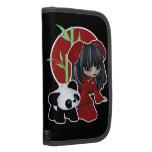 Panda asiática del chica y del mascota planificador