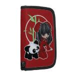 Panda asiática del chica y del mascota organizador