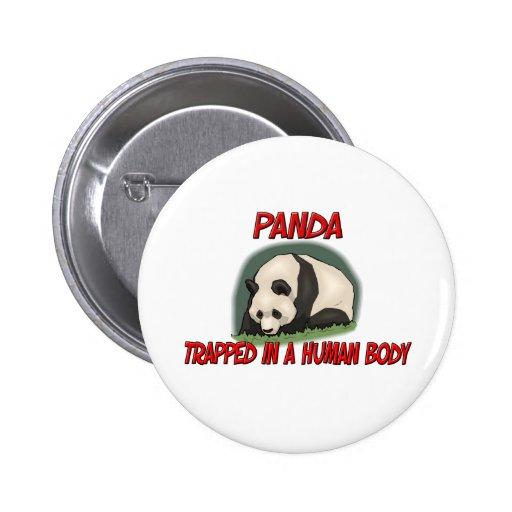 Panda atrapada en un cuerpo humano pin