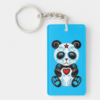 Panda azul del azúcar del zombi llavero