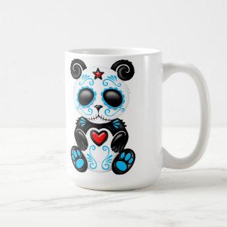 Panda azul del azúcar del zombi taza clásica
