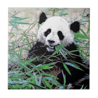 Panda Azulejo Cuadrado Pequeño