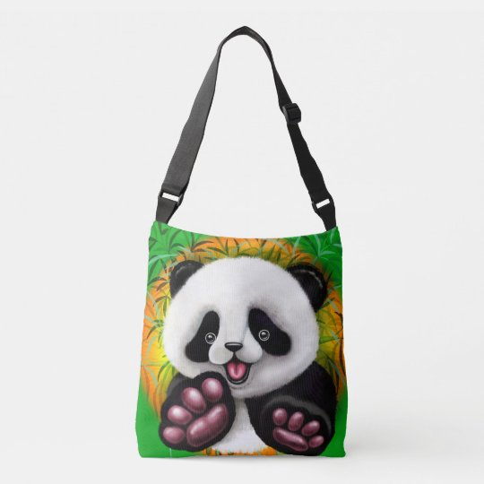 Panda Baby Bear Cute and Happy Crossbody Bag