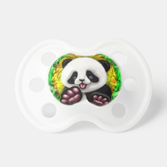 Panda Baby Bear Cute and Happy Pacifier