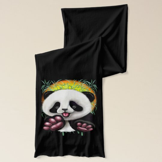 Panda Baby Bear Cute and Happy Scarf