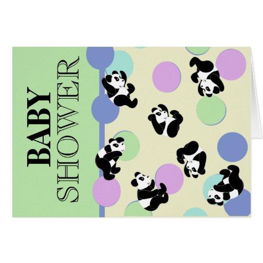 panda baby shower cards zazzle