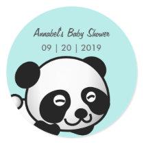 Panda Baby Shower Classic Round Sticker