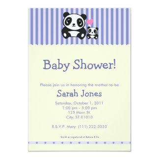 Panda Baby Shower - Purple & Cream Card