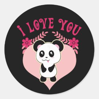 Panda baby stickers, so cute kawaii classic round sticker