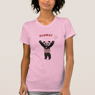 Panda Badminton Score Tee Shirts