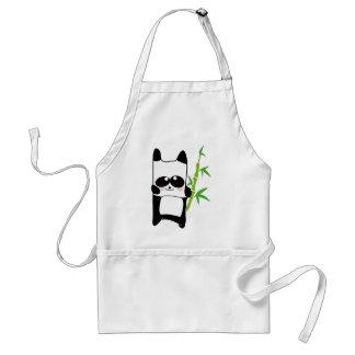 panda bamboo adult apron