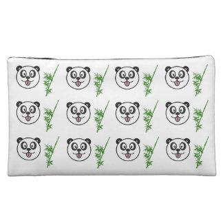 Panda bamboo makeup bag