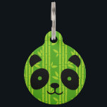 "panda bamboo pet tag<br><div class=""desc"">This design is inspired by those georgous bamboo eaters - giant pandas. I&#39;ve mixed cute vector drawing of this animal with bamboo pattern to create bold, contemporary design. I&#39;ve choose to put this cute Panda into the giant bamboo surroundings. Giant bamboos are the largest members of a grass family. They...</div>"