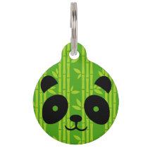 panda bamboo pet tag