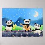 Panda Band - poster print