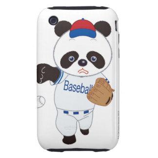 Panda Baseball Player Pitching a Baseball Tough iPhone 3 Case