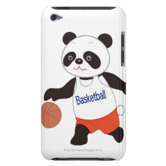 Panda Basketball Player Dribbling Barely There iPod Cover