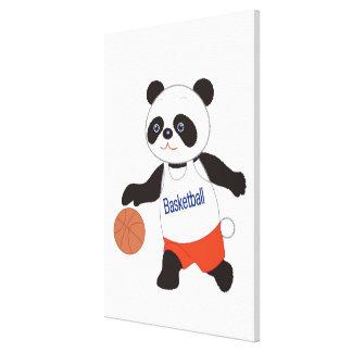 Panda Basketball Player Dribbling Canvas Print
