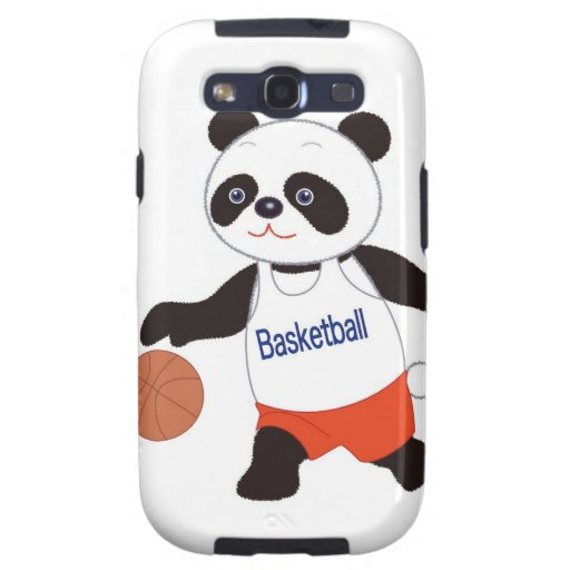 Panda Basketball Player Dribbling Samsung Galaxy S3 Cover
