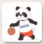 Panda Basketball Player Dribbling Coaster