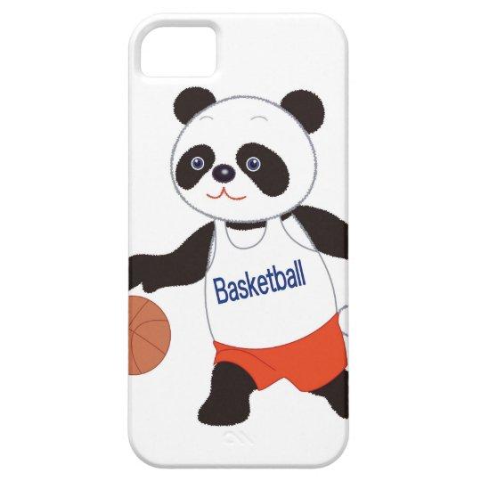 Panda Basketball Player Dribbling iPhone SE/5/5s Case