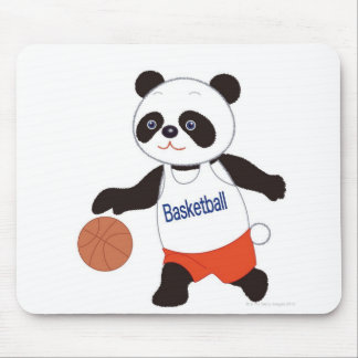 Panda Basketball Player Dribbling Mouse Pad
