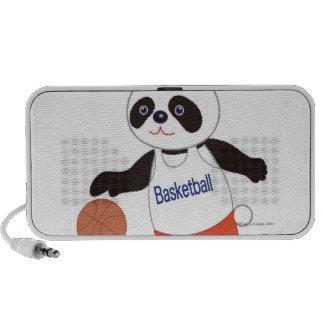 Panda Basketball Player Dribbling Speakers