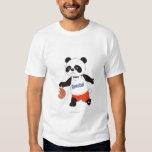 Panda Basketball Player Dribbling T Shirt