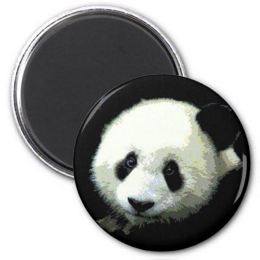 Panda Bear 2 Inch Round Magnet