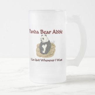 Panda Bear Addict 16 Oz Frosted Glass Beer Mug