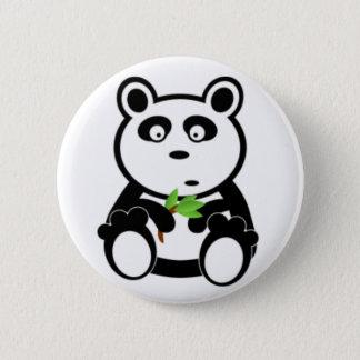 Panda Bear and Bamboo Pinback Button