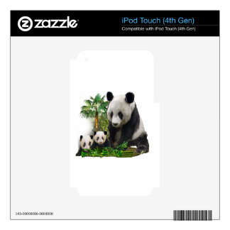 Panda bear and cubs art iPod touch 4G decals