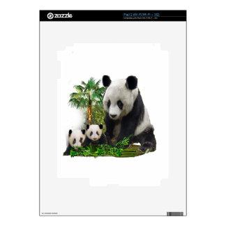 Panda bear and cubs art skins for iPad 2