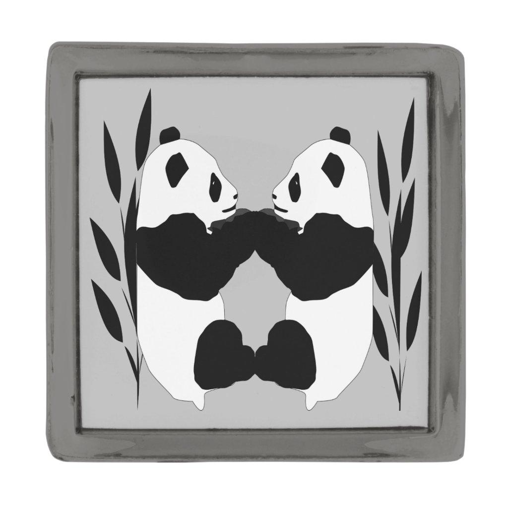 Panda Bear Animals Abstract Lapel Pin
