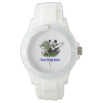 Panda bear art wristwatch