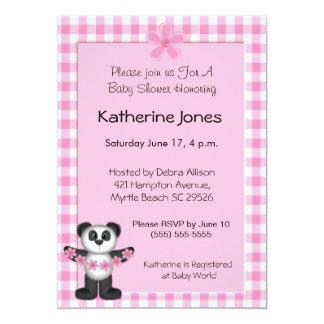 Panda Bear Baby Shower Invitaions Card