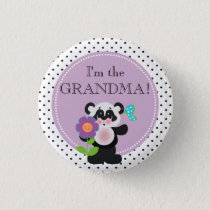 Panda Bear Baby Shower Party Family Member Button