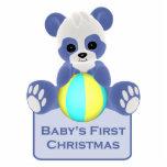 Panda Bear Baby's First Christmas Ornament Photo Cutouts