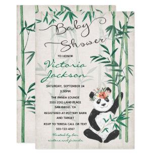 Baby panda invitations zazzle panda bear bamboo baby shower invitation filmwisefo