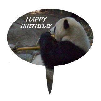 Panda Bear Bamboo Happy Birthday Cake Topper