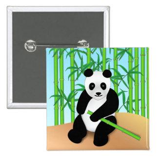 Panda Bear & Bamboo Plants Pins