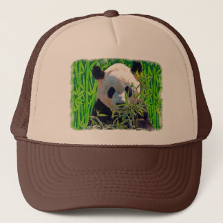 Panda Bear & Bamboo Wildlife Art Trucker Hat
