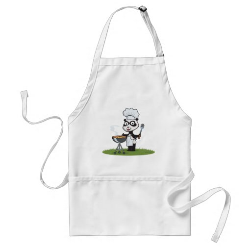 Panda Bear Barbecue Apron