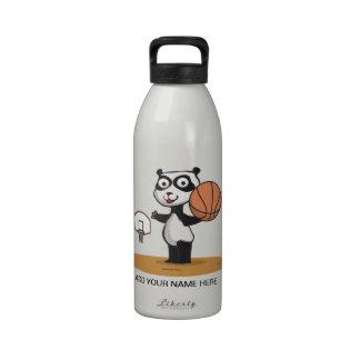 Panda Bear Basketball Water Bottle