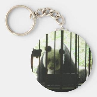 Panda Bear Behind Bars Keychain