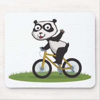 Panda Bear Biker Mouse Pad