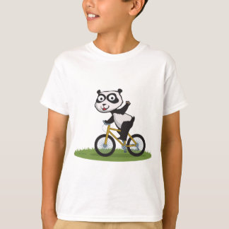 Panda Bear Biker T-Shirt
