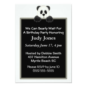 Panda Birthday Party Theme Cards Greeting Photo Cards Zazzle