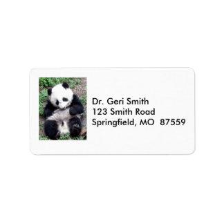 Panda Bear Bites Stick, Has Cool Claws Label