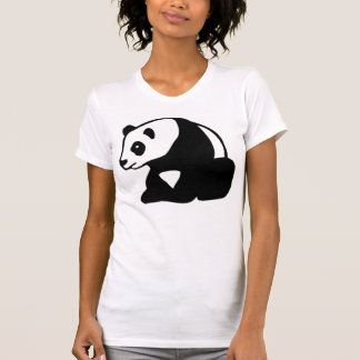 PANDA BEAR BLACK AND WHITE T SHIRT